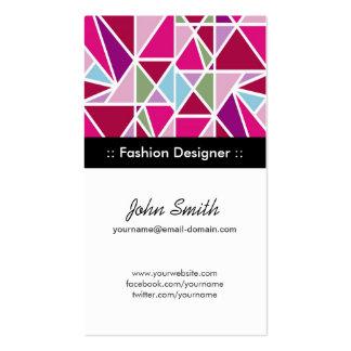 Geometria do abstrato do rosa do desenhador de mod cartoes de visita