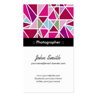 Geometria do abstrato do rosa do fotógrafo cartão de visita