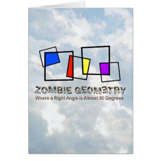 Geometria do zombi - básica cartão comemorativo