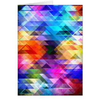 Geometria estrutural da cor cartão comemorativo