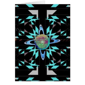 Geometria extrema do extremo do design de cartão comemorativo