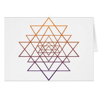 Geometria sagrado cartão comemorativo