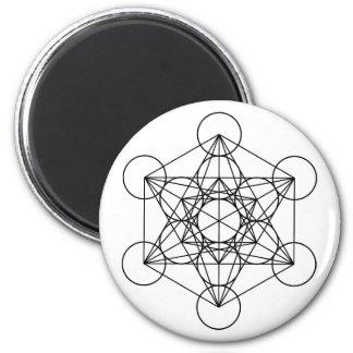 Geometria sagrado do cubo de Metatron Ímã Redondo 5.08cm
