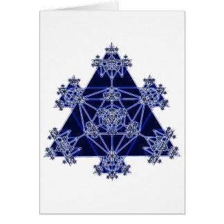Geometria sagrado: Triângulos azuis: Cartão Comemorativo
