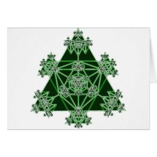 Geometria sagrado: Triângulos verdes: Cartão Comemorativo