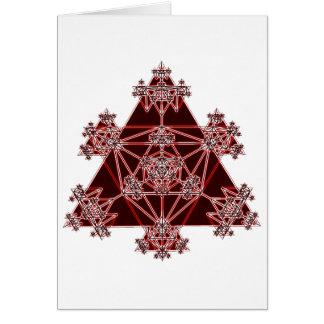 Geometria sagrado: Triângulos vermelhos: Cartão Comemorativo