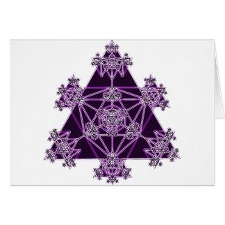 Geometria sagrado: Triângulos violetas: Cartão Comemorativo
