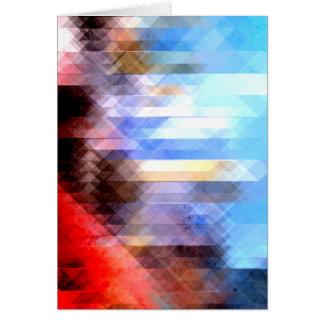 Geometria Textured abstrato Cartão Comemorativo
