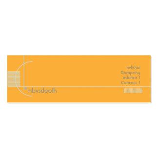 Geométrico alaranjado - magro cartão de visita skinny