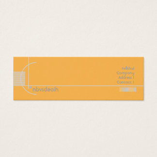 Geométrico alaranjado - magro cartão de visitas mini