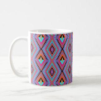 Geométrico colorido brilhante moderno modelado caneca de café