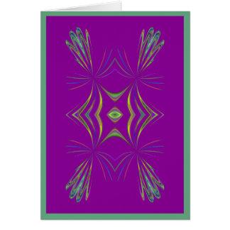 Geométrico delicado no cartão roxo