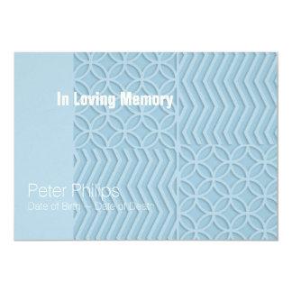 Geométrico escolha a cerimonia comemorativa da cor convite 12.7 x 17.78cm