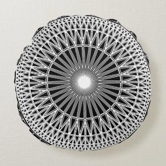 Geométrico escovado em volta do travesseiro almofada redonda