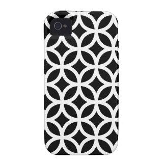 Geométrico preto e branco capa para iPhone 4/4S