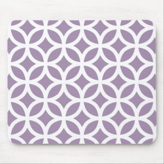 Geométrico roxo da violeta africana mouse pad