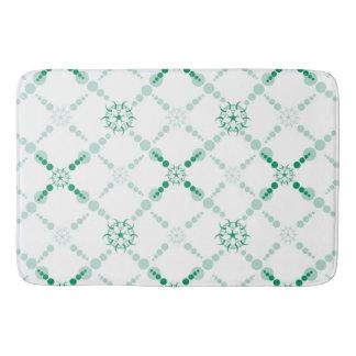 Geométrico verde tapete de banheiro