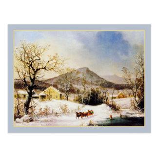 George Henry Durrie: Inverno no país Cartão Postal