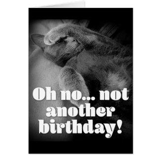 George o cartão de aniversário do gato