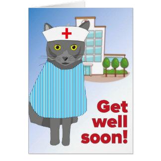 George o gato obtem o cartão bom