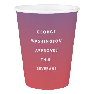 George Washington aprovou o copo da bebida