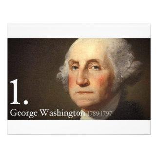 George Washington Convites Personalizado