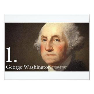 George Washington Convite 10.79 X 13.97cm