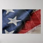 George Washington e poster do composto da bandeira