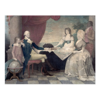 George Washington e seu cartão da família