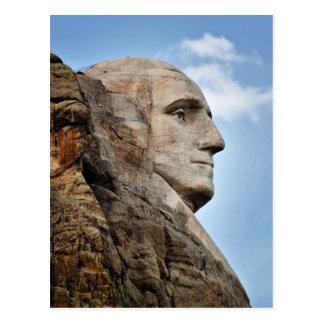 George Washington no cartão do Monte Rushmore