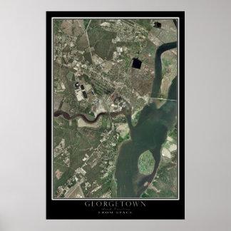 Georgetown South Carolina da arte do satélite do Poster