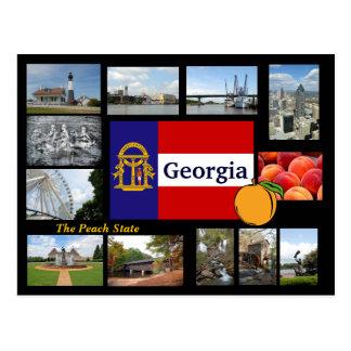 Geórgia o cartão do estado do pêssego