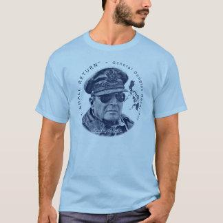 Gerador MacArthur Eu retornará (o impressão azul) Camiseta