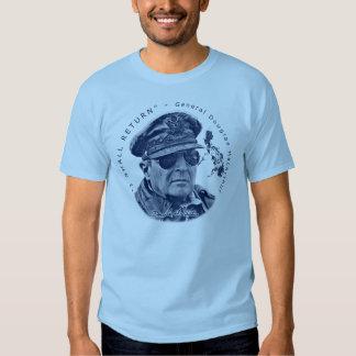 Gerador MacArthur Eu retornará (o impressão azul) Camisetas