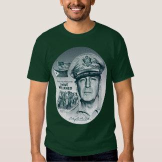 Gerador MacArthur Eu retornou (o impressão azul Tshirts