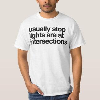 geralmente as luzes da parada estão em camiseta