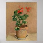Gerânio em um pote, c.1905 (óleo em canvas) pôsteres