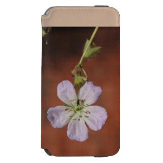 Gerânio selvagem capa carteira incipio watson™ para iPhone 6