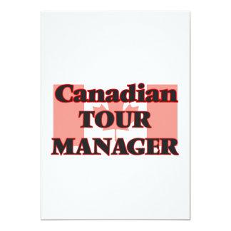 Gerente canadense da excursão convite 12.7 x 17.78cm