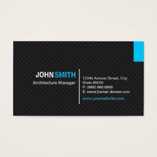 Gerente da arquitetura - grade moderna da sarja cartão de visitas
