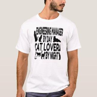 Gerente da engenharia do amante do gato camiseta