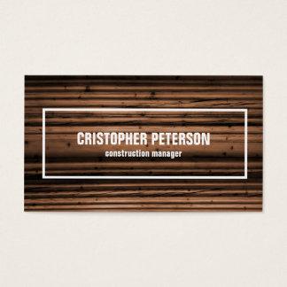 Gerente de madeira da construção da textura cartão de visitas