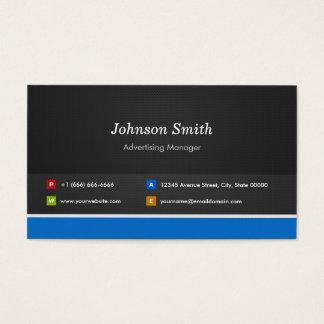 Gerente de propaganda - customizável profissional cartão de visitas
