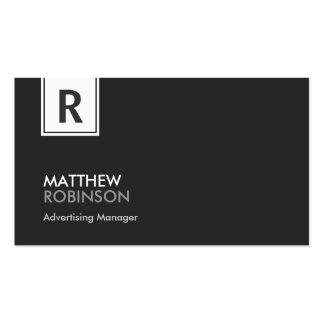 Gerente de propaganda - monograma elegante moderno modelo cartão de visita