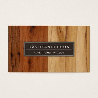 Gerente de propaganda - olhar de madeira da grão cartão de visitas