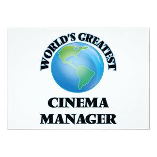 Gerente do cinema do mundo o grande convite