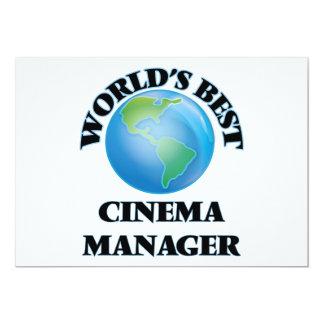Gerente do cinema do mundo o melhor convites personalizados