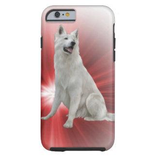 German shepherd branco capa tough para iPhone 6