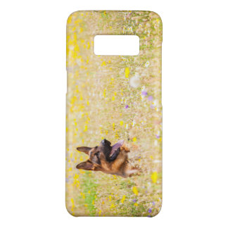 German shepherd em flores do primavera para a capa Case-Mate samsung galaxy s8