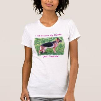 """German shepherd """"eu protegerei camisa do meu"""
